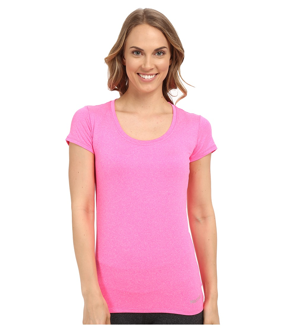Marmot - All Around Tee S/S (Kinetic Pink Heather) Women's T Shirt
