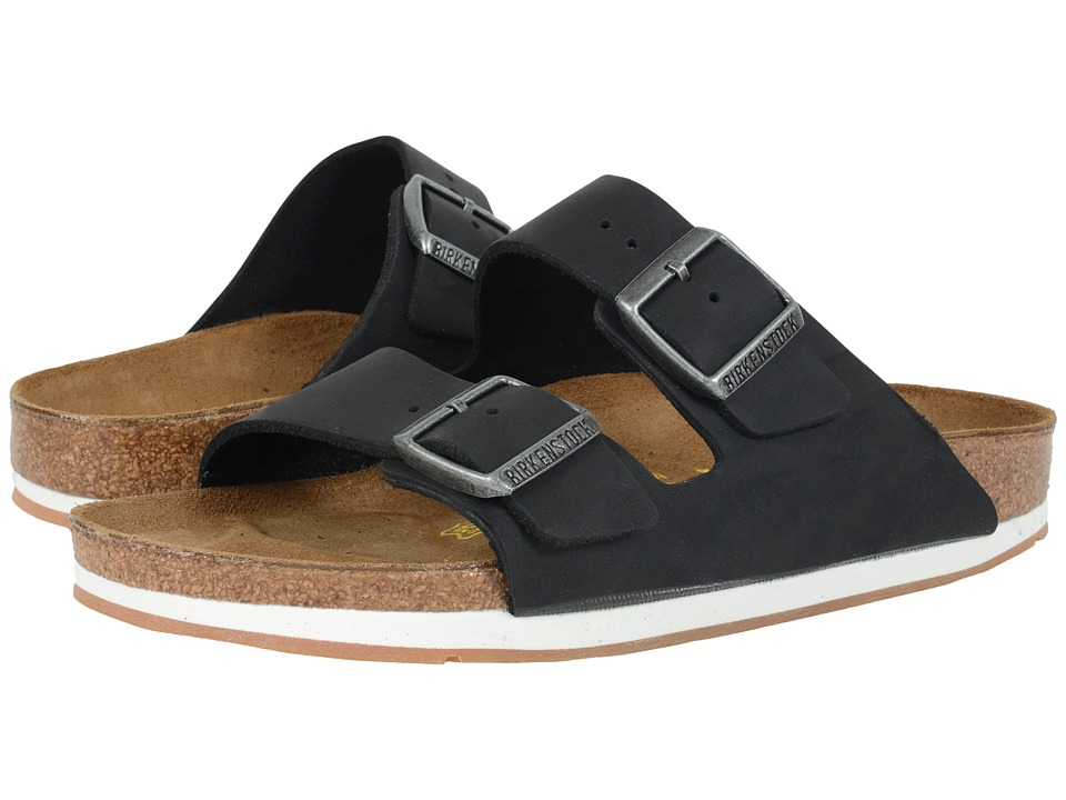 Birkenstock - Arizona - Sport (Unisex) (Black Oiled Leather) Shoes