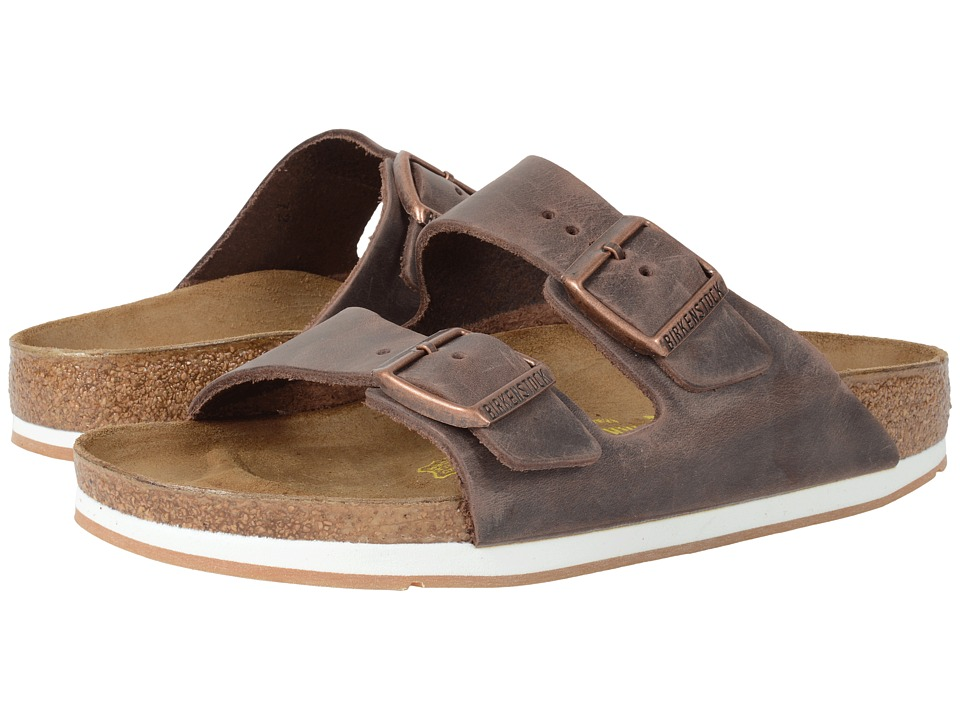 Birkenstock - Arizona - Sport (Unisex) (Habana Oiled Leather) Shoes