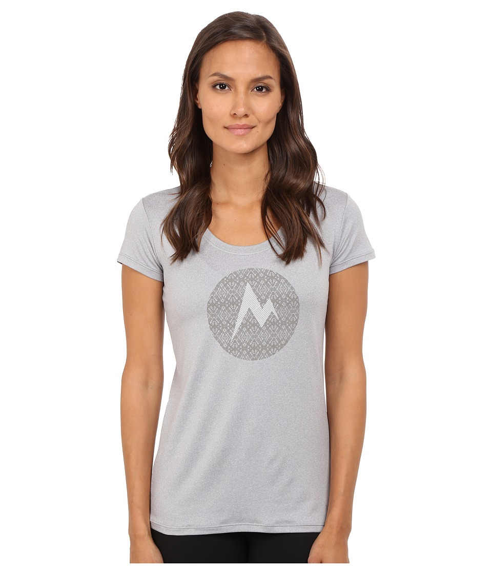 Marmot Post Time Tee Short Sleeve (Steel Heather) Women