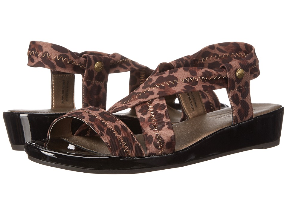 LifeStride - Debutante (Natural Leopard Stretch Fabric) Women's Toe Open Shoes