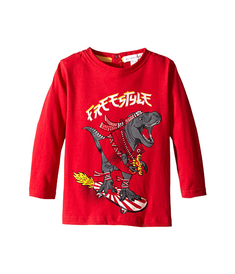 Pumpkin Patch Kids - Street Warrior Long Sleeve Tee with Print (Infant/Toddler/Little Kids) (Red Alert) Boy