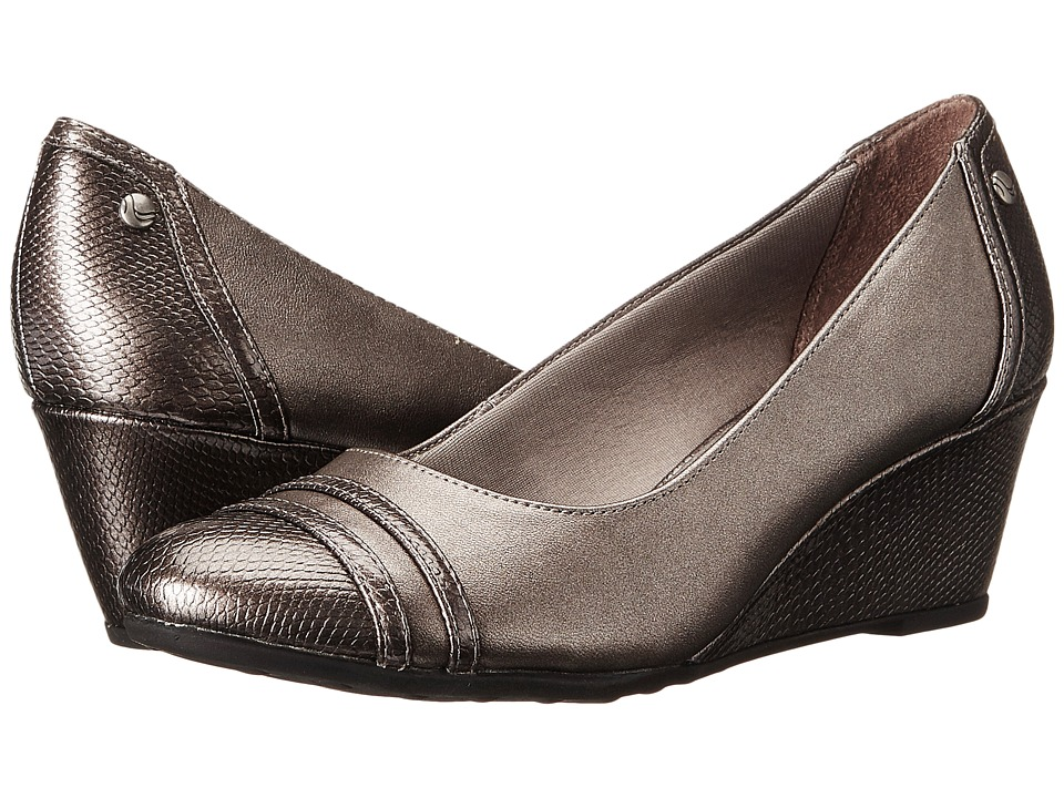 LifeStride Juliana (Pewter Vinci/Snake Patent) Women