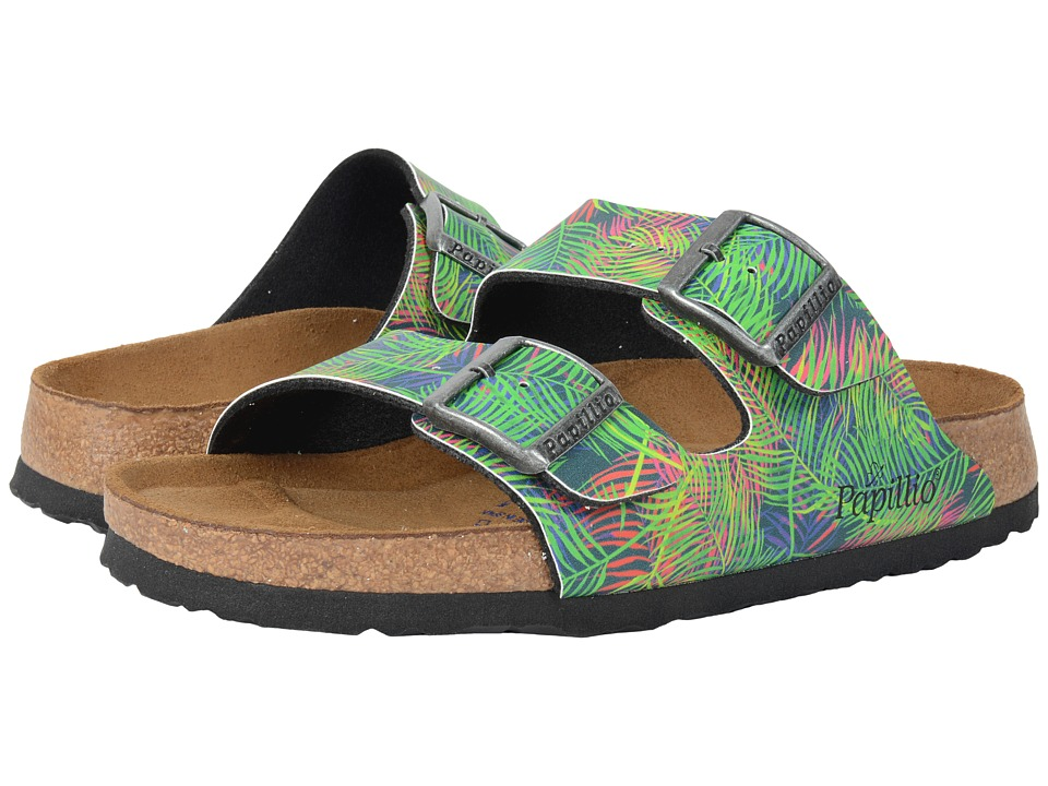 Birkenstock - Arizona Soft Footbed (Tropical Leaf Green Birko-Flor ) Women's Sandals