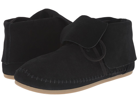 TOMS - Zahara Bootie (Black Suede) Women's Slip on Shoes