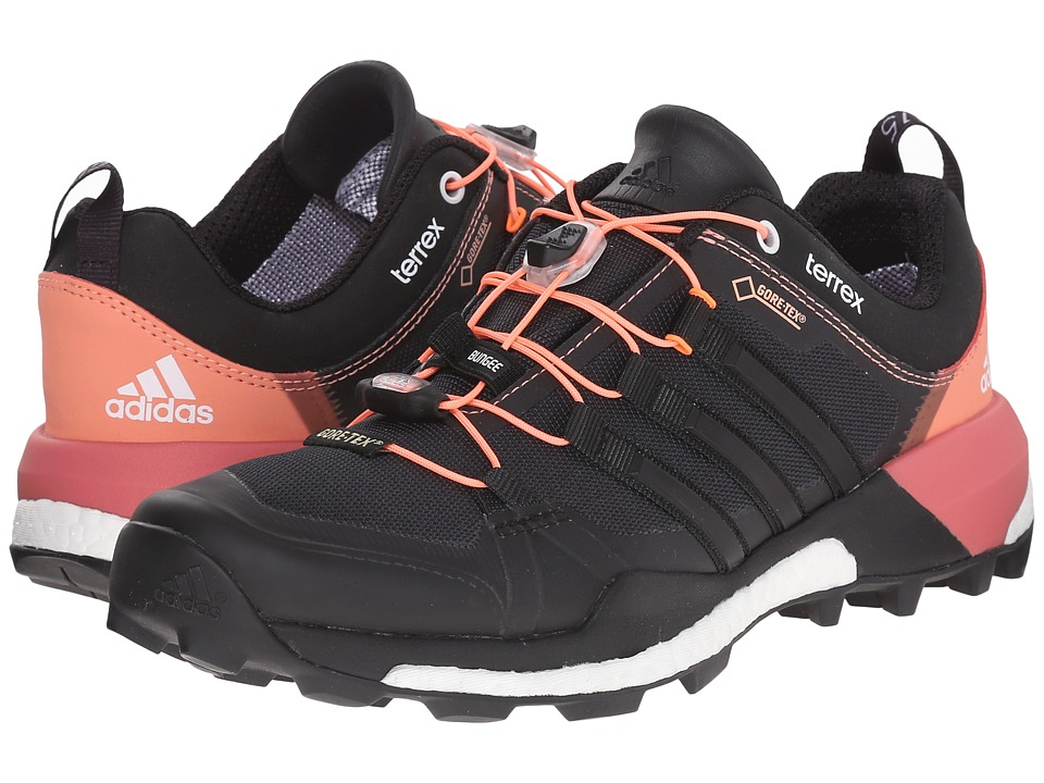adidas Outdoor - Terrex Skychaser GTX (Dark Grey/Black/Super Blush) Women's Shoes