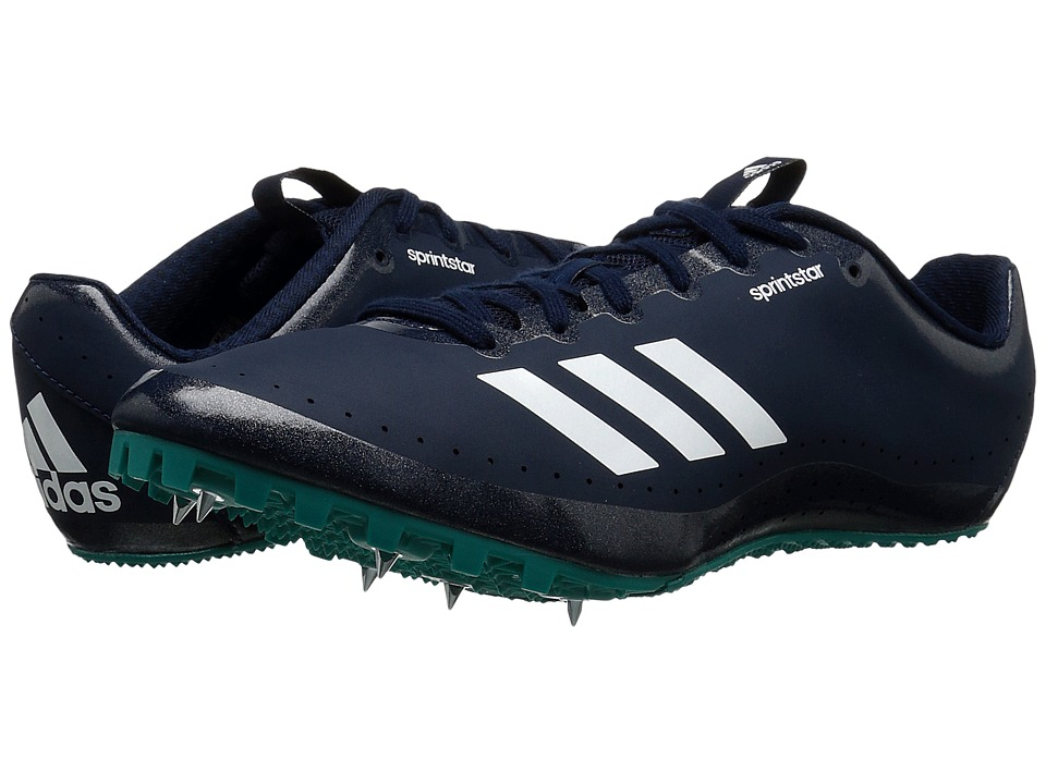 adidas - Sprintstar (Collegiate Navy/White/EQT Green) Men's Cleated Shoes