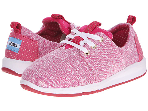 TOMS Kids - Del Rey Sneaker (Little Kid/Big Kid) (Pink Chambray) Kids Shoes