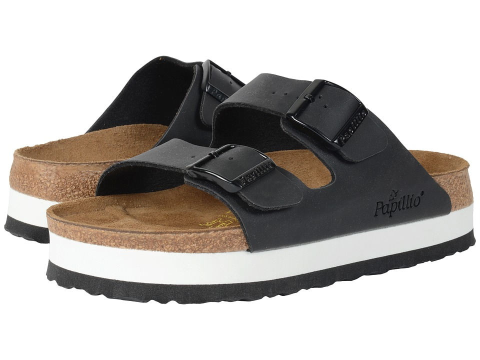 Birkenstock - Arizona Platform (Black Birko-Flor ) Women's Sandals