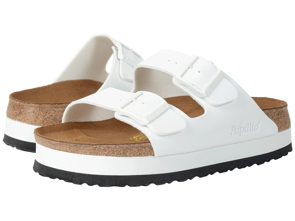 Birkenstock - Arizona Platform (White Birko-Flor ) Women's Sandals