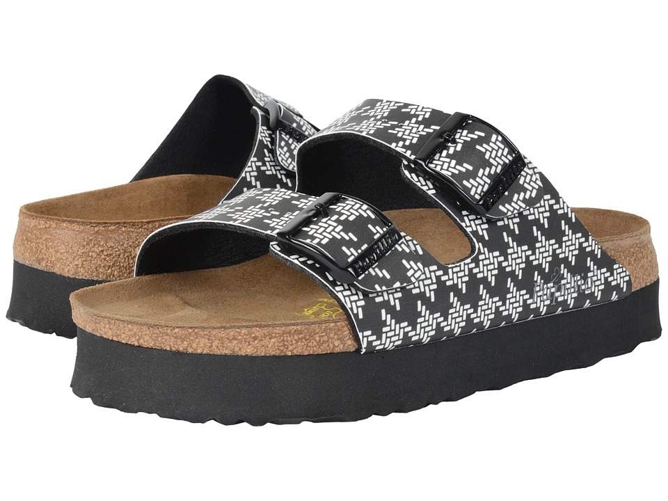 Birkenstock - Arizona Platform (Knotted Black Birko-Flor ) Women's Sandals