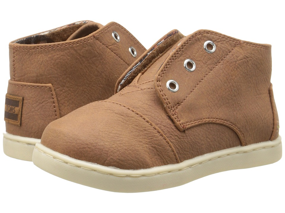 TOMS Kids - Paseo Mid (Infant/Toddler/Little Kid) (Brown Synthetic Leather) Kids Shoes