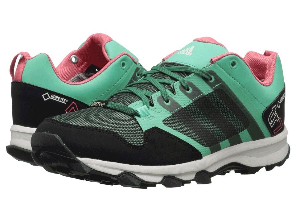adidas Outdoor - Kanadia 7 Trail GTX (Green Glow/Blangreen/Super Blush) Women's Shoes