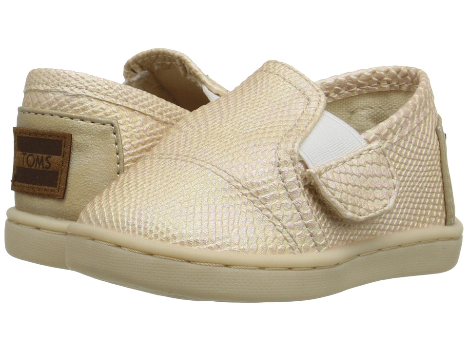 TOMS Kids - Avalon Sneaker (Infant/Toddler/Little Kid) (Gold Metallic Synthetic Leather) Kids Shoes