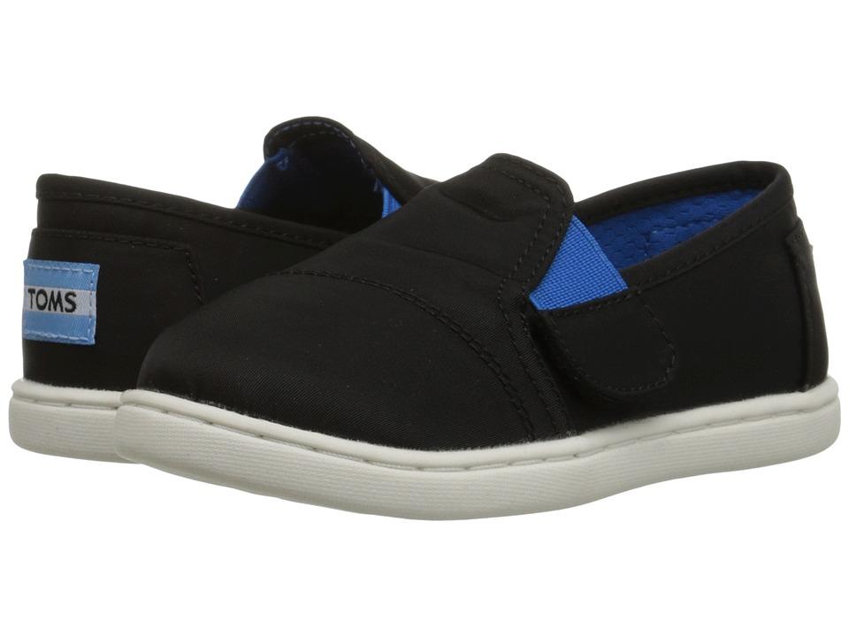 TOMS Kids - Avalon Sneaker (Infant/Toddler/Little Kid) (Black Nylon) Kids Shoes