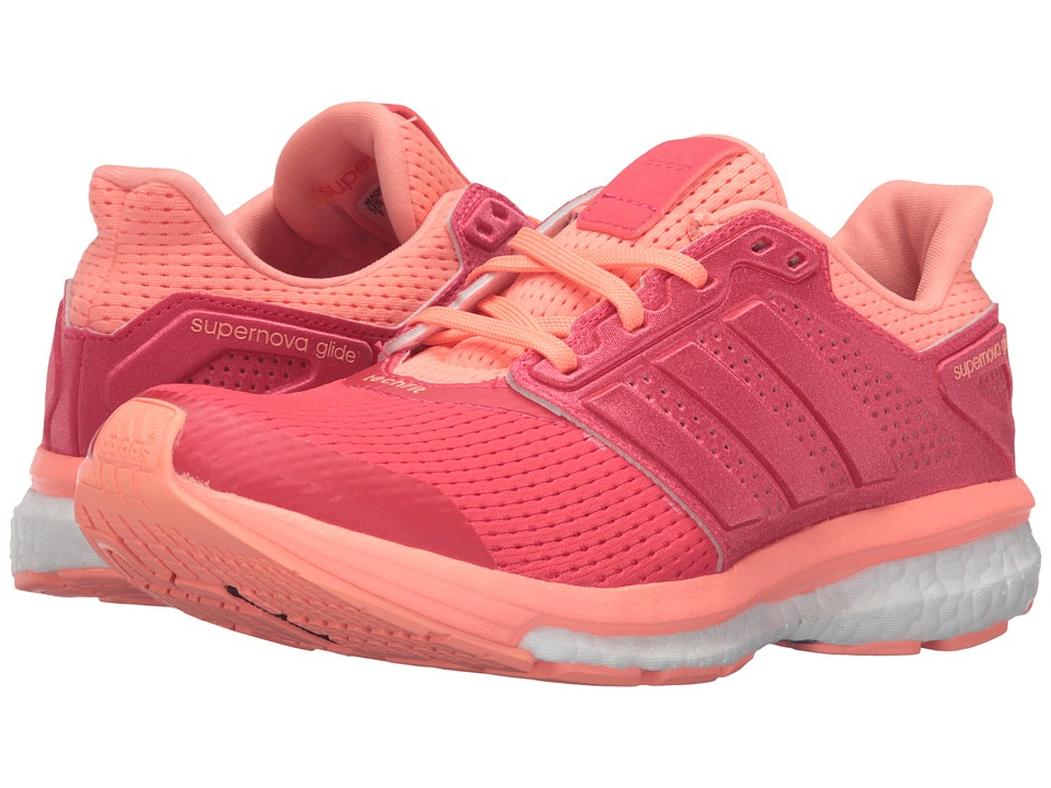 adidas Running - Supernova Glide 8 W (Shock Red/Sun Glow) Women's Running Shoes