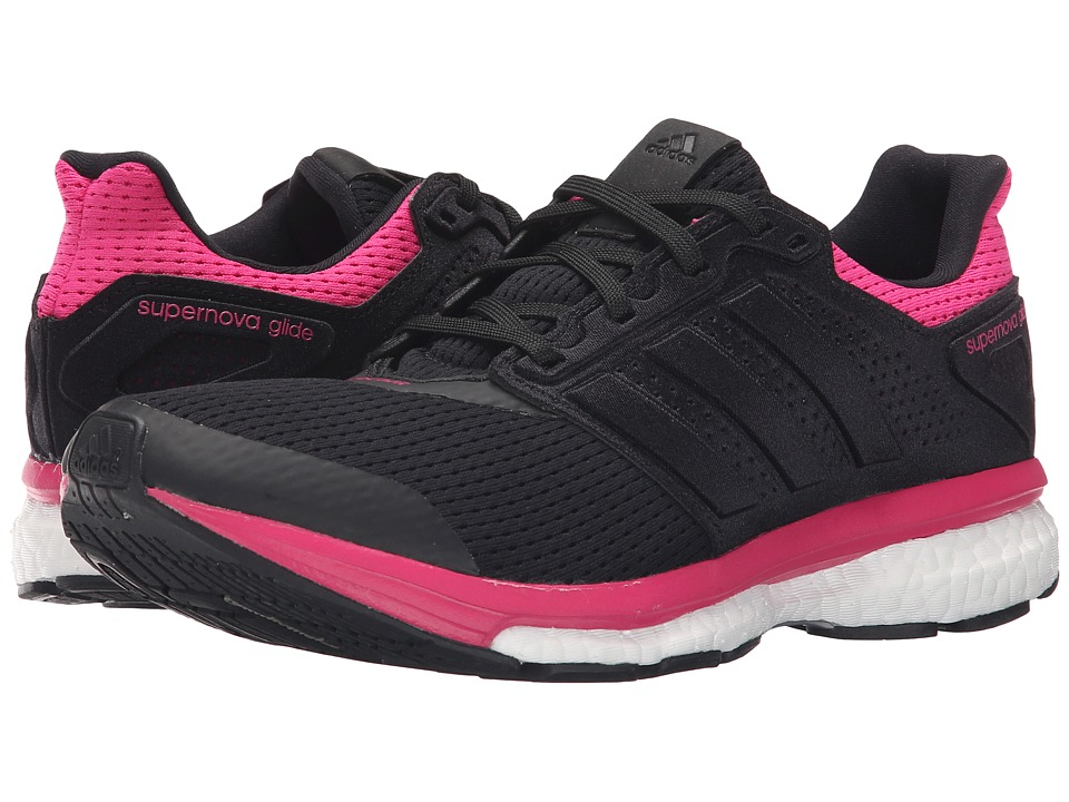 adidas Running - Supernova Glide 8 W (Black/EQT Pink) Women's Running Shoes