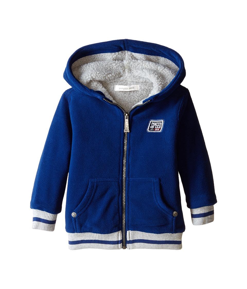 Pumpkin Patch Kids - Wheel Life Sherpa Lined Polar Fleece Sweater (Infant/Toddler/Little Kids) (Olympian Blue) Boy