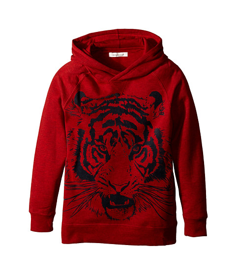 Pumpkin Patch Kids - Street Warrior Pull-On Hoodie (Little Kids/Big Kids) (Red Alert Marle) Boy
