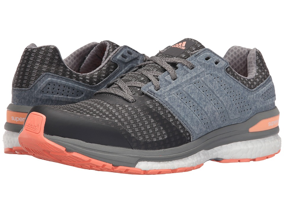 adidas Running - Supernova Sequence 8 W (DGH Solid Grey/Solid Grey/Sun Glow) Women's Running Shoes