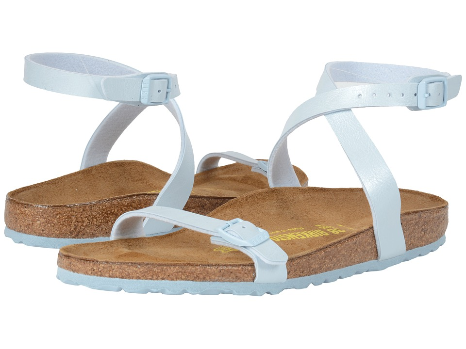 Birkenstock - Daloa (Baby Blue Birko-Flor ) Women's Dress Sandals