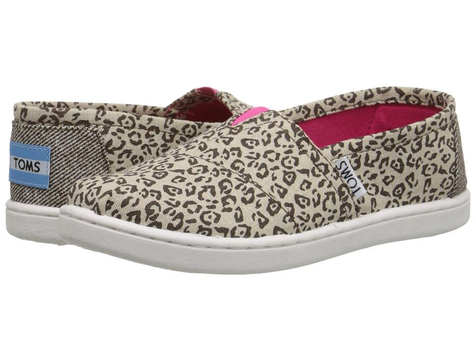 TOMS Kids - Seasonal Classics (Little Kid/Big Kid) (Metallic Canvas Leopard) Kids Shoes