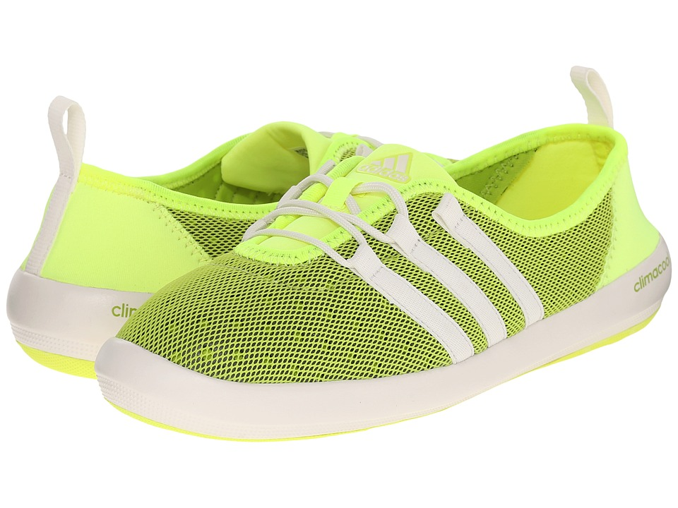 adidas Outdoor - CLIMACOOL Boat Sleek (Halo/Chalk White/Semi Solar Slime) Women's Shoes