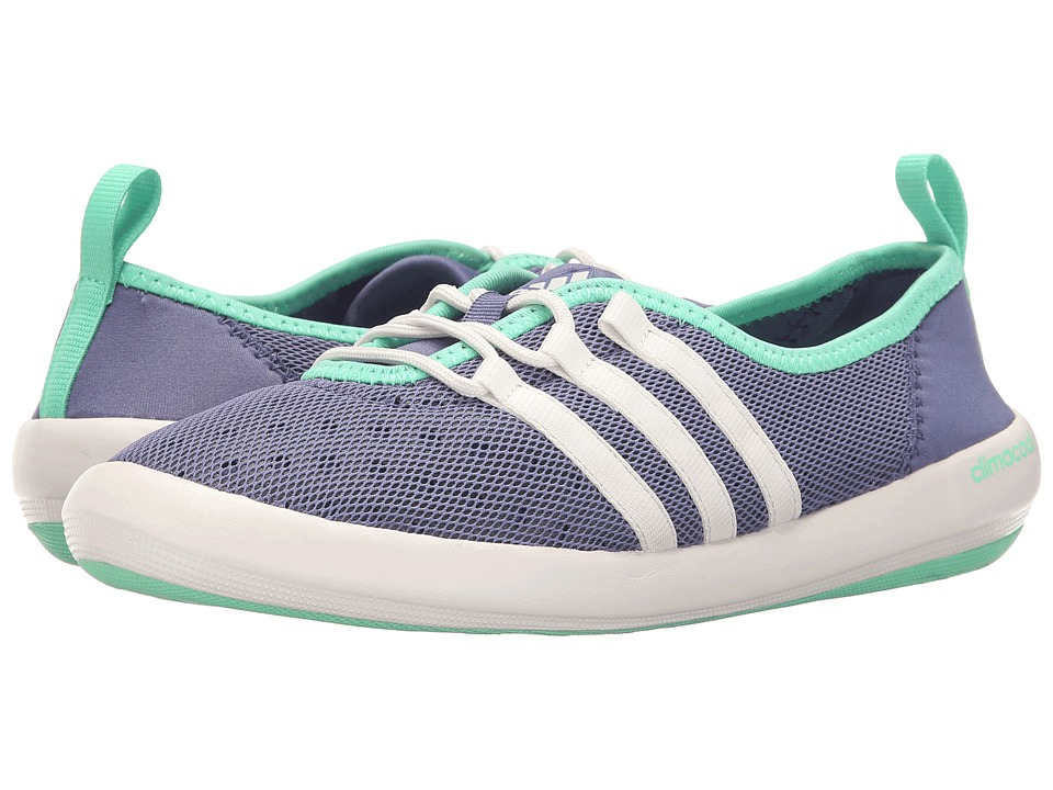 adidas Outdoor - CLIMACOOL Boat Sleek (Super Purple/Chalk White/Green Glow) Women's Shoes
