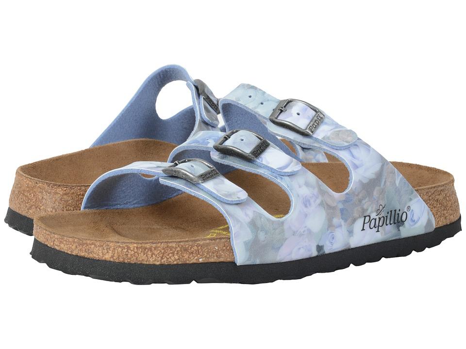 Birkenstock - Florida (Silky Rose Blue Birko-Flor ) Sandals