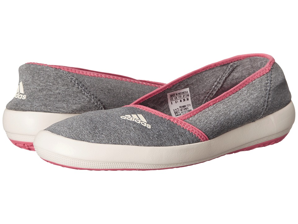 adidas Outdoor - Boat Slip-On Sleek (Medium Grey Heather/Chalk White/Super Blush) Women's Shoes