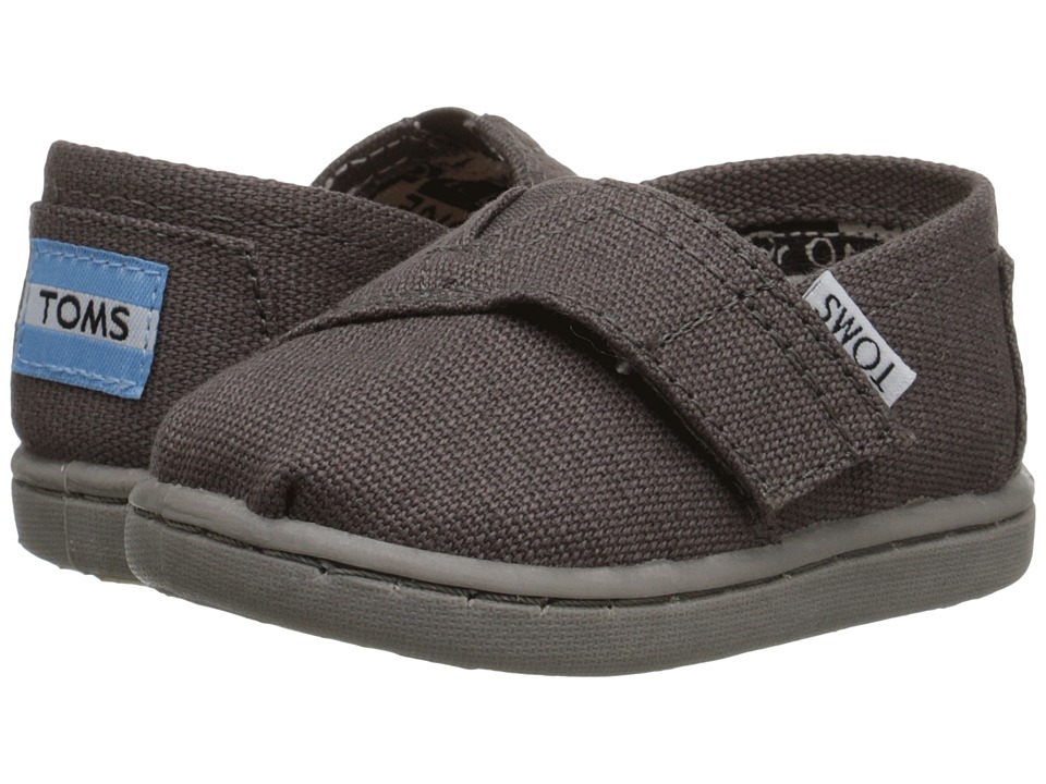 TOMS Kids - Classics (Infant/Toddler/Little Kid) (Ash Canvas) Kids Shoes
