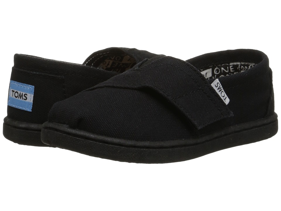 TOMS Kids - Classics (Infant/Toddler/Little Kid) (Black Canvas) Kids Shoes