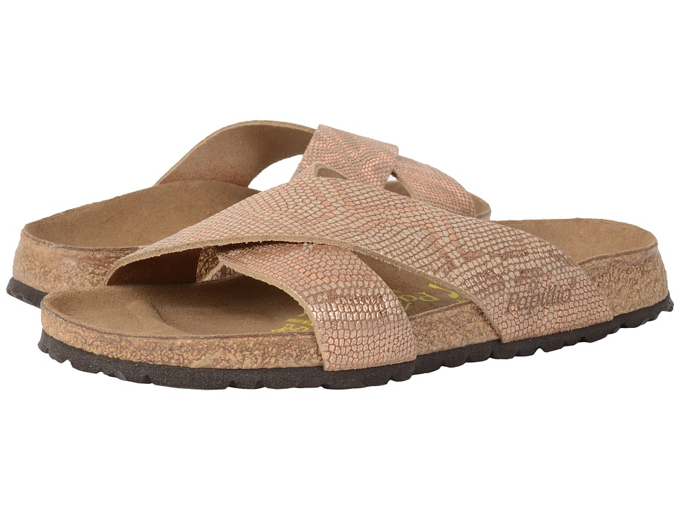 Birkenstock Daytona (Royal Python Brown Leather) Sandals