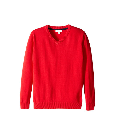 Pumpkin Patch Kids - Core Essentials V-Neck Jumper (Infant/Toddler/Little Kids/Big Kids) (Red Alert) Boy's Sweater