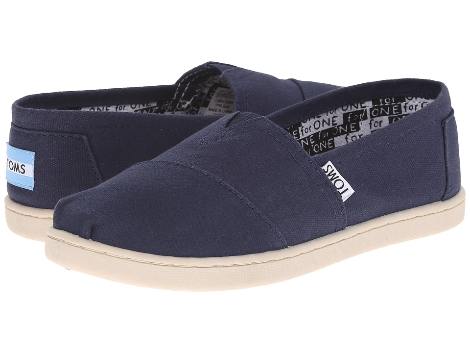 TOMS Kids - Classics (Little Kid/Big Kid) (Navy) Kids Shoes