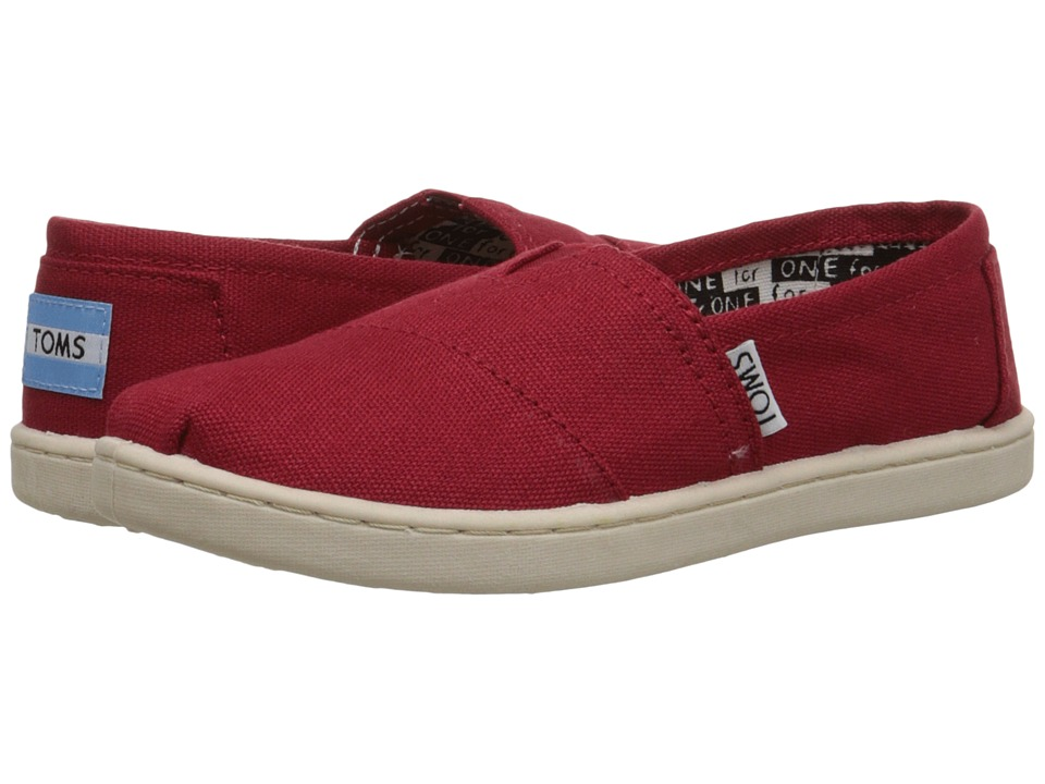 TOMS Kids - Classics (Little Kid/Big Kid) (Red) Kids Shoes