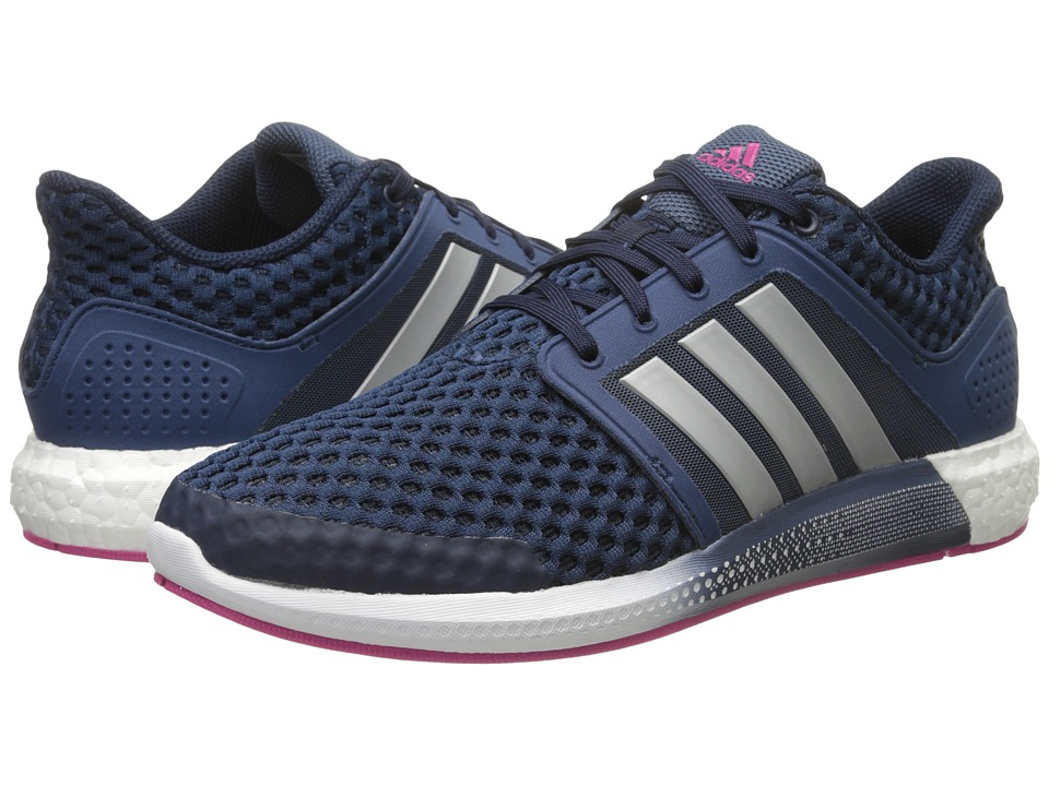 adidas Running - Solar Boost W (Collegiate Navy/Silver Metallic/EQT Pink) Women's Running Shoes