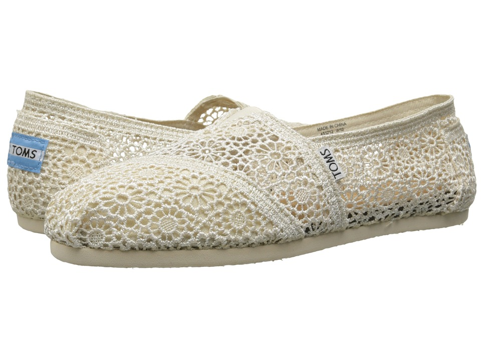 TOMS - Crochet Classics (Natural Morocco Crochet) Women's Slip on Shoes