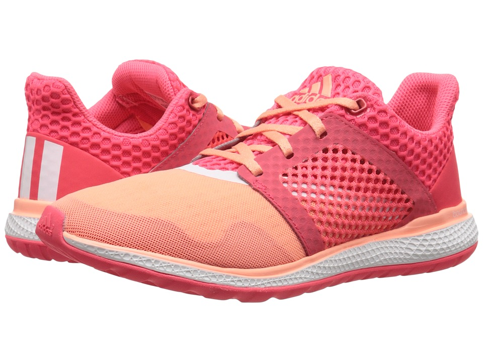 adidas Running - Energy Bounce 2 W (Sun Glow/White/Shock Red) Women's Running Shoes