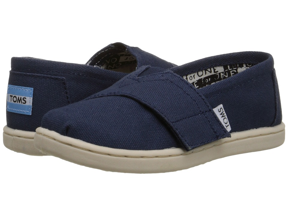 TOMS Kids - Classics (Infant/Toddler/Little Kid) (Navy) Kids Shoes