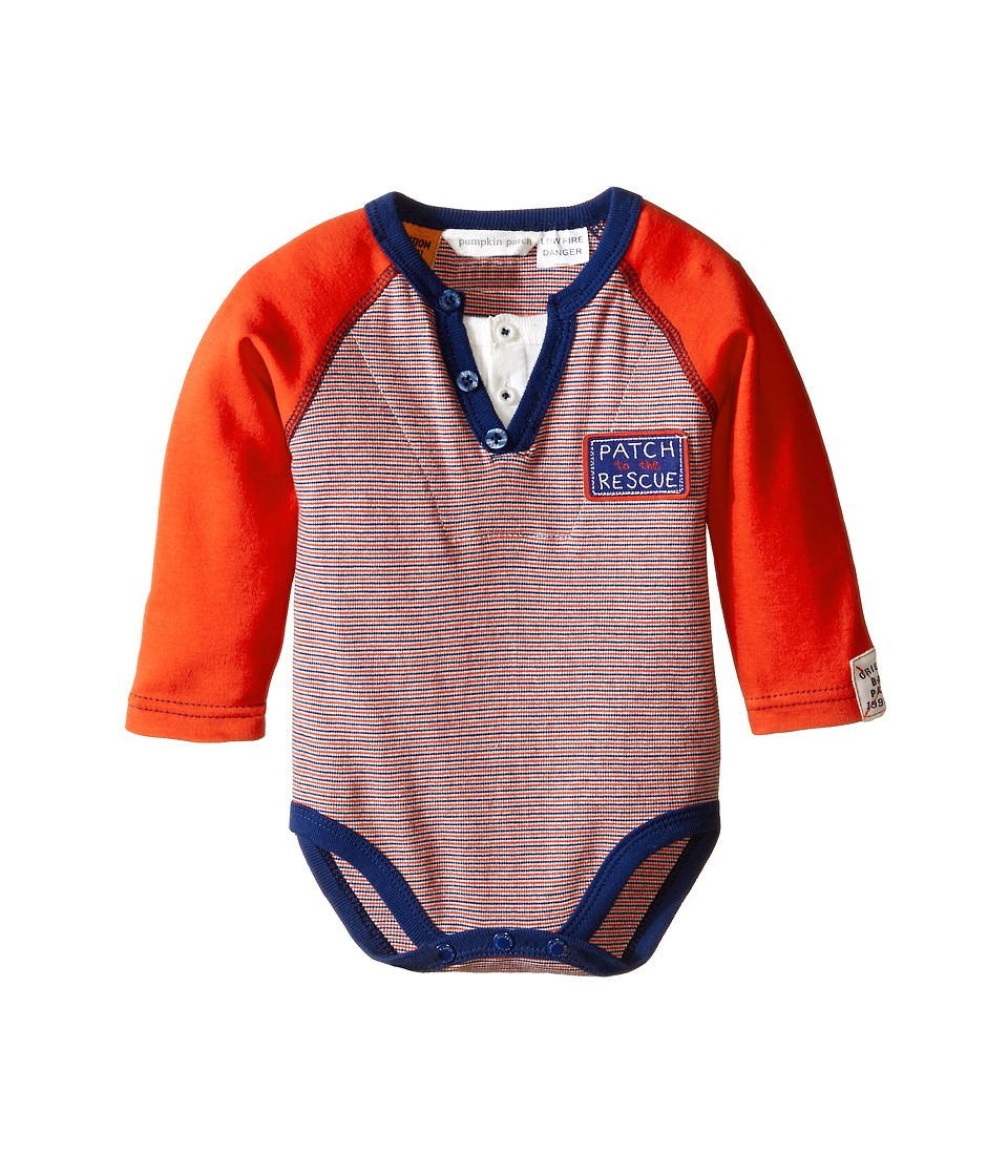 Pumpkin Patch Kids - Wheel Life Henley Bodysuit (Infant) (Hot Rod Red) Boy's Jumpsuit & Rompers One Piece