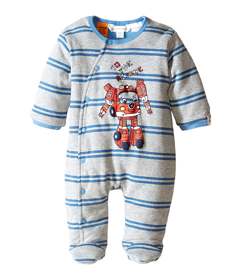 Pumpkin Patch Kids - Wheel Life Padded All In One (Infant) (Metal Marle) Boy's Jumpsuit & Rompers One Piece