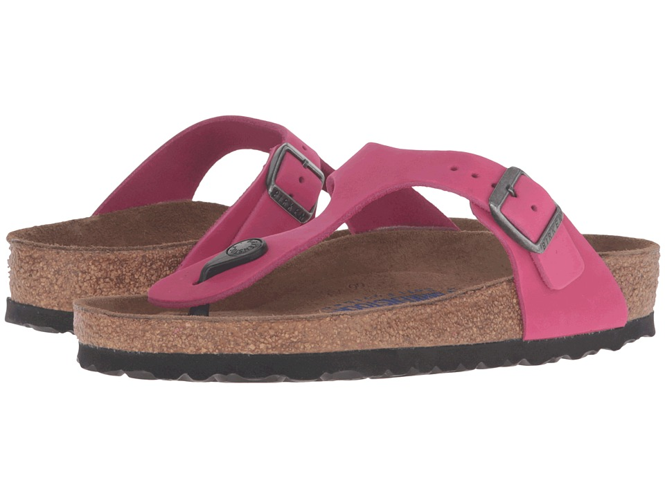 Birkenstock - Gizeh Soft Footbed (Pink Nubuck) Women's Sandals
