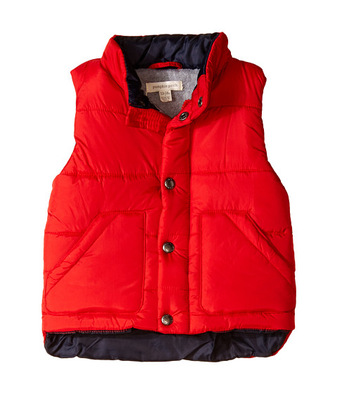 Pumpkin Patch Kids - Zip-Up Puffer Vest (Infant/Toddler/Little Kids) (Red Alert) Boy