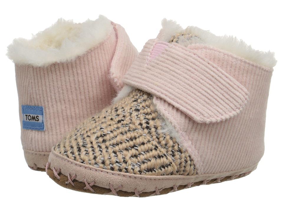 TOMS Kids - Cuna (Infant/Toddler) (Pink Corduroy Tweed) Kids Shoes