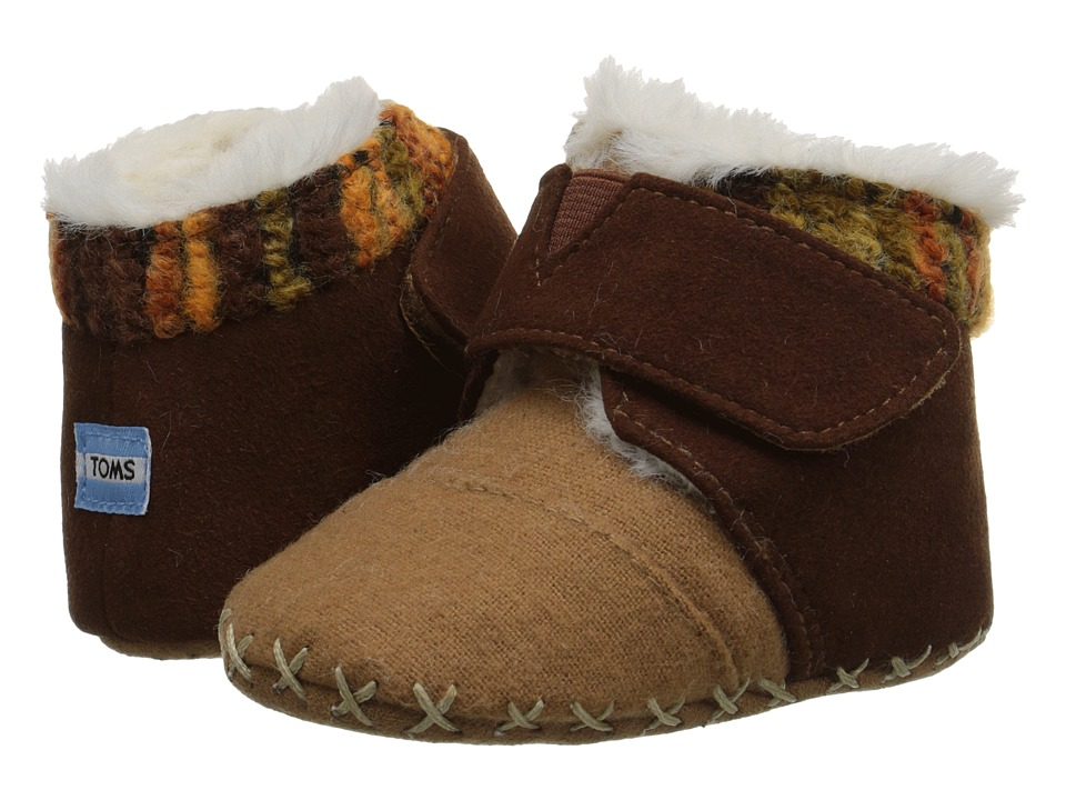 TOMS Kids - Cuna (Infant/Toddler) (Chocolate Suede Felt) Kids Shoes