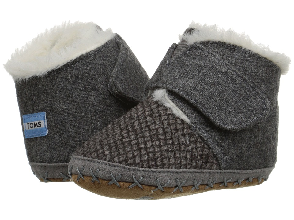 TOMS Kids - Cuna (Infant/Toddler) (Grey Felt Tweed) Kids Shoes
