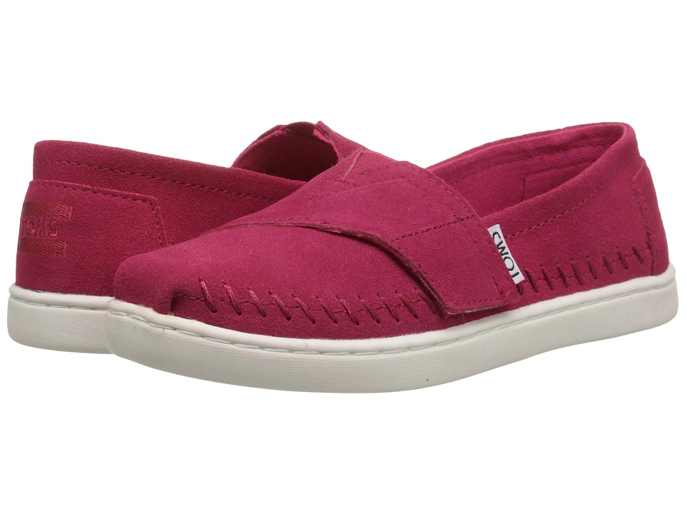 TOMS Kids - Seasonal Classics (Little Kid/Big Kid) (Fuchsia Suede) Kids Shoes