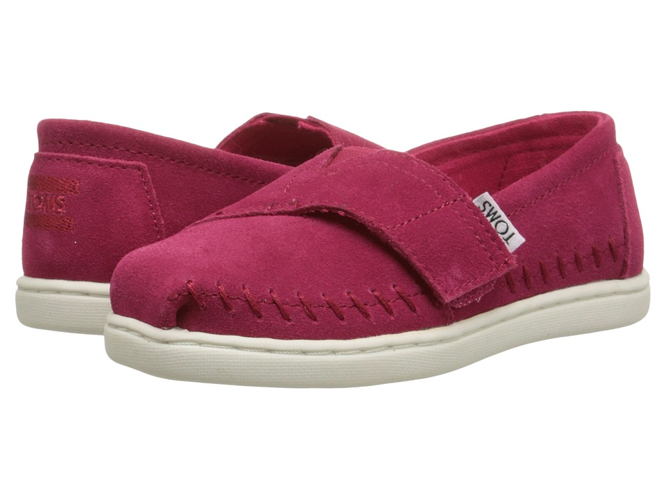 TOMS Kids - Seasonal Classics (Infant/Toddler/Little Kid) (Fuchsia Suede) Kids Shoes