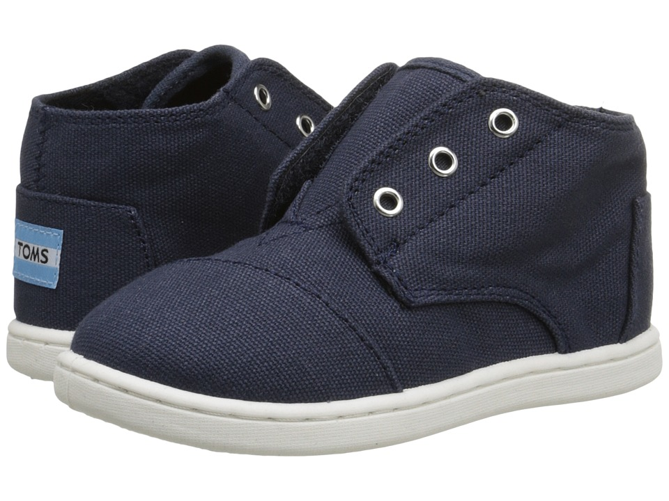 TOMS Kids - Paseo Mid (Infant/Toddler/Little Kid) (Navy Canvas) Kids Shoes